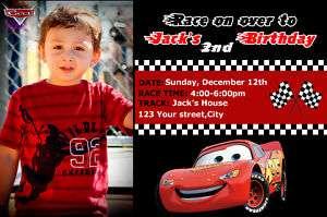 PIXAR CARS DISNEY MCQUEEN BIRTHDAY PARTY INVITATION