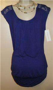 MATERNITY TOP SHIRT SUMMER LIZ LANGE PURPLE (WILL FIT 9 MONTHS) NEW
