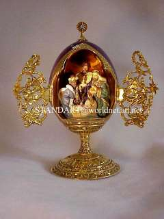 Imperial Romanov Faberge Christmas Nativity Gold Egg Three Wise Men
