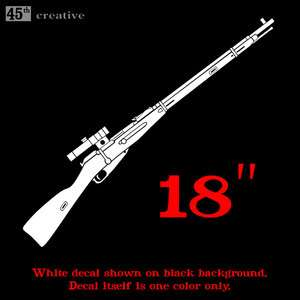 18 BIG M91/30 Sniper rifle Decal sticker WWII Mosin Nagant Russian