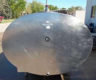 MUELLER OH30360 2000 Gallon Stainless Steel Bulk Milk Tank