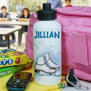 Personalized Ice Skating Water Bottle Sports & Outdoors