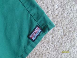 WORKWEAR Green Medical Uniform Scrubs Short Sleeve Scrub Shirt