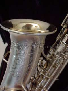 vintage J.W. York & Sons silver plated curved Soprano Saxophon