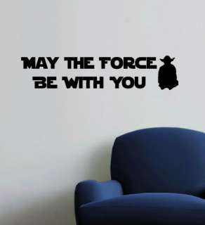 MAY THE FORCE BE WITH YOU   Star Wars Wall Quote Decals
