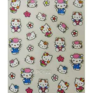 XH Lovely cute hello kitty nart nart sticker with beautiful flowers