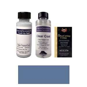 2 Oz. Medium Adriatic Blue Metallic Paint Bottle Kit for