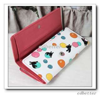 Women Girl GIFT Cute Cartoon Animals Dinner Lovely PU Long Clutch