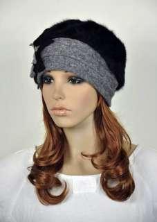 Winter Wool & Rabbit Fur Fashion Lady Womens Dress Hat Beanie Cap