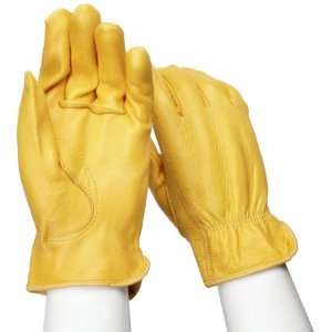 West Chester 9920K Leather Glove, Shirred Elastic Wrist Cuff, 8.75