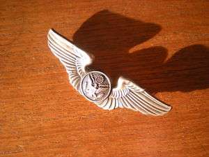 WW2 AIR CORP air crew WING silver WWII USAAF USAAC world war two orig
