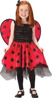 GIRLS LADYBUG DRESS WINGS COSTUME NEW FW1573
