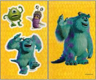 MONSTERS INC Window Stickers CLINGS/Decals Sulley MIKE