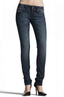 MISS ME Crystal Fallen Angel Wing SKINNY Dark Jeans sz 28 x 32 NEW by