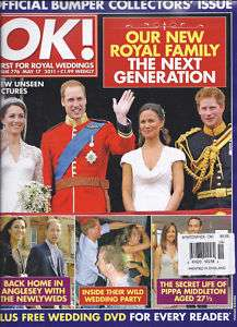 OK MAGAZINE PRINCE WILLIAM KATE MIDDLETON ROYAL WEDDING