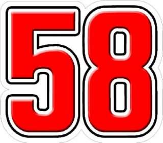 MARCO SIMONCELLI 58 STICKER