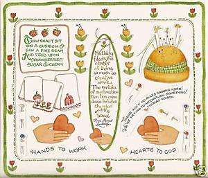 Susan Branch Stickers Sewing Flowers Hand Heart Pins