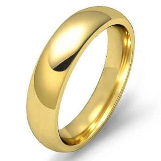 1g 10.5z Men Wedding Band Solid Dome 5mm Gold Y 14k