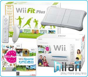 Nintendo Wii Party Pack Console+ Wii Fit Plus with Balance Board+ 154