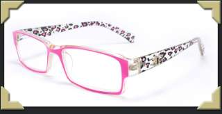 Cheetah Pattern Reading Glasses Cute Classic Designer Frame Fashions
