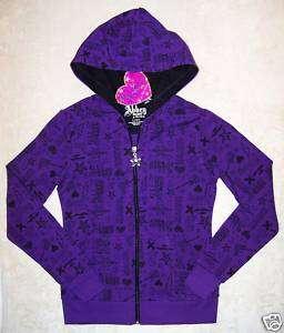 NWT Avril Lavigne ABBEY DAWN Purple Logo HOODIE S 7 YR