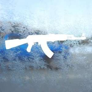 AK 47 Assault Rifle White Decal Army Military Car White Sticker