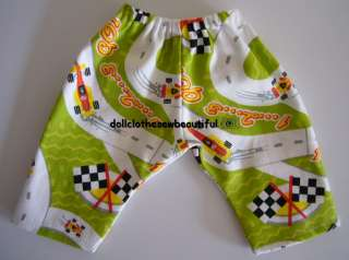 DOLL CLOTHES fits Bitty Baby Boy Race Car Pants VROOM