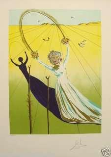 Salvador Dali Dream Passage Lithograph Art Hand Signed Authentic