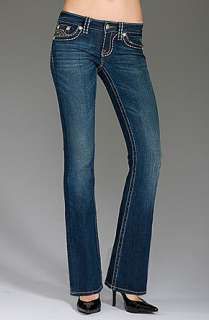 Miss Me IRENE Wide Pick Stitch BOOTCUT Jeans in Woodlyn sz 28 x 33 EUC