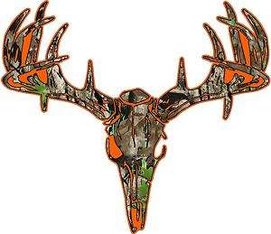Skull S4 Vinyl Sticker Decal Hunting whitetail trophy buck bow