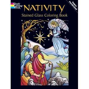 Stained Glass Coloring Book (Holiday Stained Glass Coloring Book