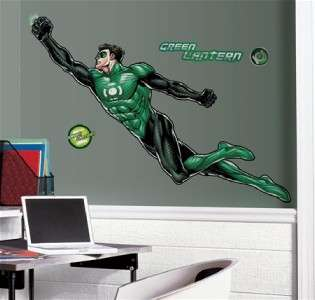 New GIANT GREEN LANTERN WALL DECALS Boys Hero Stickers 034878978741