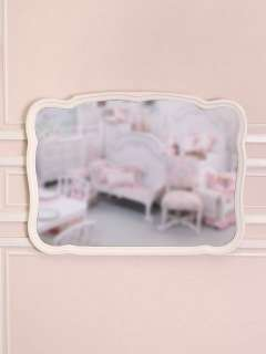 Shabby Cottage Chic Wall Mirror Dresser White Roses