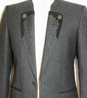 GRAY ~ WOOL Men German Western Suit JACKET Coat 40 M