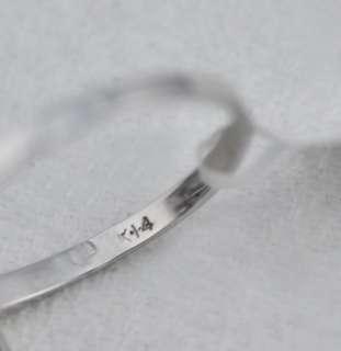 Blue Green Opal Diamond 14k White Gold Ring 6.5