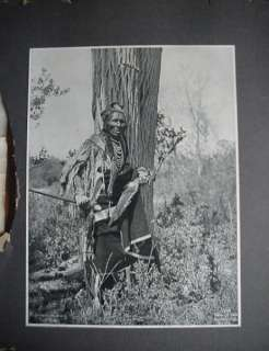 collectibles black and white lithograph of indian chief by heyn photo