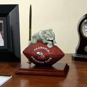 Alabama Crimson Tide Team Spirit Mascot Football Clock and