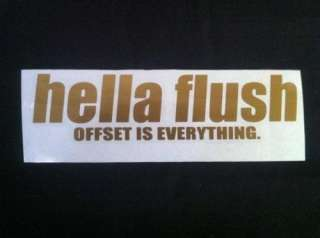 hella flush Decal Sticker Gold JDM DA DC EG EK EM FD