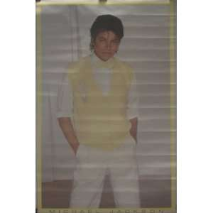 Michael Jackson Yellow Sweater Thriller Era Poster
