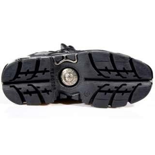 NEWROCK New Rock 110 Black Leather Stud Biker Boots