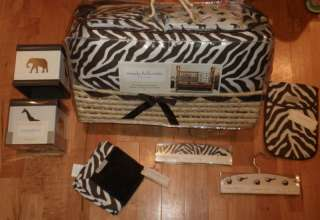 NEW HUGE SET Wendy Bellissimo ~SAFARI~ Crib Nursery B/G