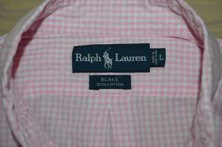 Ralph Lauren BLAKE SHORT SLEEVE PINK WHITE CHECKERED COTTON SHIRT MENS