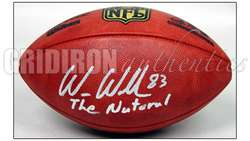 PATRIOTS AUTOGRAPHED OFFICIAL NFL LEATHER GAME FOOTBALL w/THE NATURAL