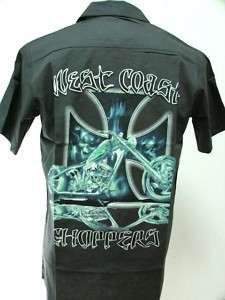 WEST COAST CHOPPERS WORK SHIRT CUSTOM MOTORCYCLE BIKER