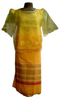 PHILIPPINE TAGALOG TRADITIONAL FILIPINIANA COSTUMES BLOUSE & SKIRT SET