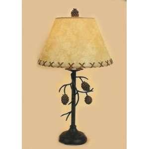 Pine Cone Large Table Desk Lamp Rustic Lodge Decor