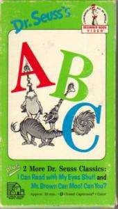 Dr. Seuss ABC (VHS, 1989)
