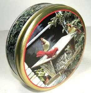 Tin #1 Persis C Weirs CAT NAP Sleeping in Bird Feeder Tin Box