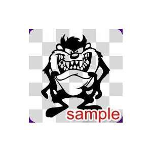 CARTOON TAZ 1 WHITE VINYL DECAL STICKER