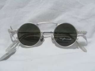 SILVER 1920s Style Small Round KOURE SUNGLASSES / Model
